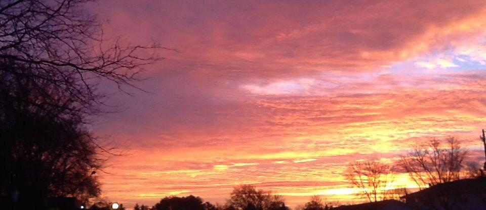 firey sunrise