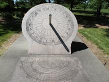 photo of actual sundial