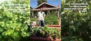 Anthony in his garden