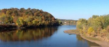 river scenery including bridge